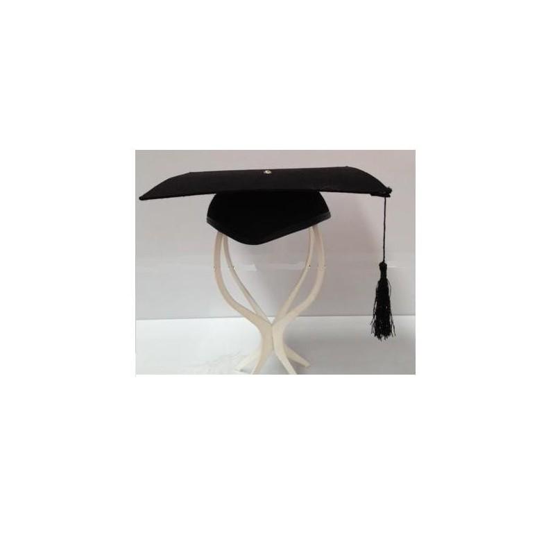 Birrete estudiante graduación fieltro