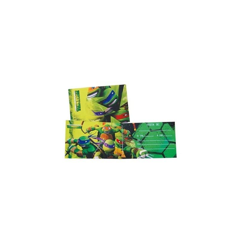 db9e9d0fe4 Invitaciones Cumpleaños Tortugas Ninja - Disfraces Murillo