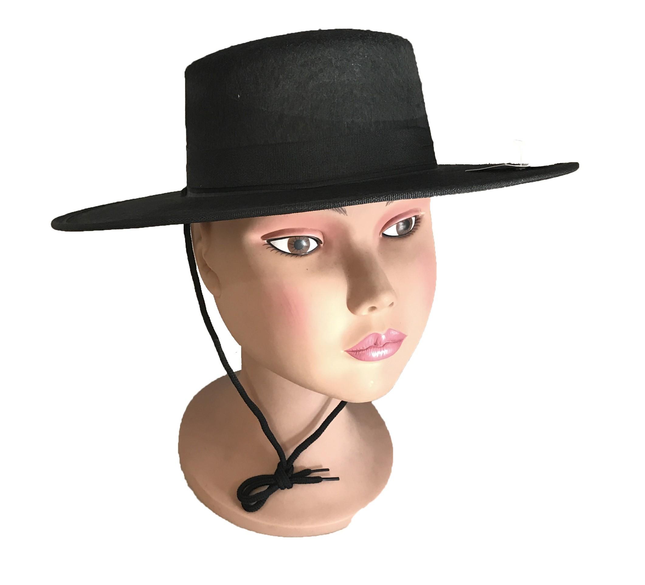 6717fd97a541 Sombrero Cordobes negro pequeño - Artículos Fiesta y Regalos Murillo ...