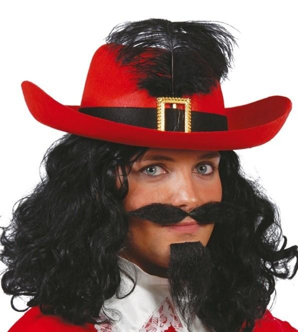 Sombrero Mosquetero Rojo - Disfraces Murillo 4a5f9ac8139
